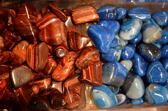 Red Tigereye & Blue Agate [Kitchener - 14 August 2014] (Doc. Ing.) Tags: blue red summer ontario canada agate stone crystals market kitchener northamerica stjacobs on 2014 stjacobsmarket tigereye redtigereye blueagate