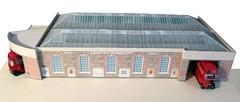 Bromley LT Garage model (kingsway john) Tags: londontransport bromley busgarage model 176scale oo gauge kingsway models rt tb card building kit 176 scale londontransportmodel bus diorama miniature