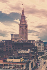 Cleveland Union Station from Euclid (jjmacaodhagain) Tags: street ohio sky urban clouds digital buildings landscape photography industrial lakeerie unitedstates cleveland perspective throughawindow euclidavenue manualexposure canoneos6d clevelandunionstation