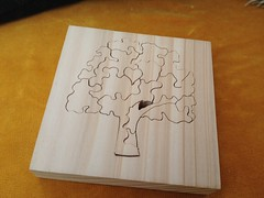 Tree jigsaw puzzle made from Western Red Cedar