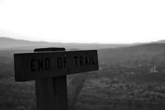 End of Trail (thpwilliams) Tags: arizona blackandwhite bw contrast nikon rocks sad altitude theend grain sedona az trail highdesert depression end goodbye northernarizona grainy redrock shrub d3200 trailend