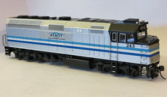 AMT 243 (Timberley512) Tags: scale model montreal amtrak ho f40 amt 243 f40ph agencemetropolitainedetransport