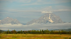 The View of Grand Teton (faungg's photos) Tags: travel usa mountains west nature landscape us nationalpark scenery scenic scene western wyoming mountmoran   169  grandteton attraction wy