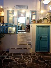Folegandros /  (Vasilis Mantas) Tags: sea woman architecture island greek cafe traditional aegean hellas greece tavern chora cyclades ola folegandros select iphone  vmantas
