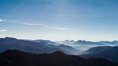 Mountains, just mountains... (A Cris ... Je suis Charlie. Slowly back...) Tags: blue sky alps fog landscapes predazzo oclini nikkor2470mmf28 d800e