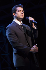PhotoHayden Milanes as Frankie Valli in the Broadway Sacramento presentation of JERSEY BOYS at the Community Center Theater Nov. 5 – 22, 2014. Photo by Joan Marcus._8_Hayden Milanes as Frankie Valli