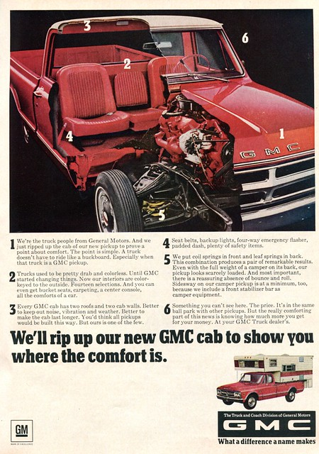 sports truck march pickup advertisement 1968 gmc afield