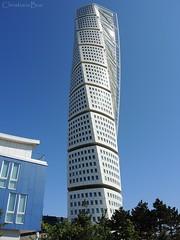 Turning Torso (ChristianeBue) Tags: blue tower architecture modern sweden schweden architektur torso sverige blau turm malm turning