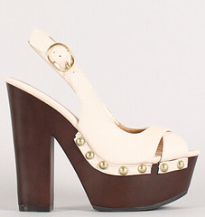 "studded peep toe slingback platform stone • <a style=""font-size:0.8em;"" href=""http://www.flickr.com/photos/64360322@N06/15727713425/"" target=""_blank"">View on Flickr</a>"