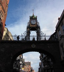 Eastgate Clock, Chester (tom_2014) Tags: old city uk greatbritain travel bridge england urban building classic clock architecture town europe arch cheshire time famous victorian eu landmark chester timepiece elegant citycentre victorianarchitecture nwengland