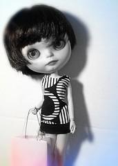 Blythe-a-Day November#10: Black and White: Nylah Goes Shopping