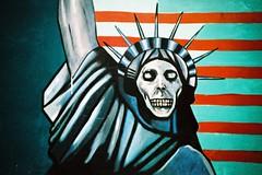 Tehran (cranjam) Tags: streetart film skull graffiti lomo lca xpro lomography iran kodak propaganda middleeast slide persia embassy statueofliberty tehran elitechrome100 mediooriente greatsatan ambasciata statuadellalibertà usdenofespionage embassyoftheunitedstates تهران ایران