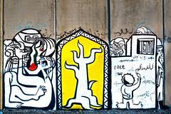 APARTHEID WALL, PALESTINE (MATLAKAS) Tags: graffiti riccardomatlakas londonart londonstreetart streetart friezeartfair londonartfair goldsmithsuniversity matlakas palestine