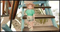 Parker Family Vacay (delisadventures) Tags: secondlifefashion secondlife second secondlifefashionblog secondlifeblog seconlifefashion fashin fashion fashions fashionblog fashino fas slfashion slfashionblog slfashionblogger slfashions slfashin slfashino babyfashion urbanfashion toddleedoo toddleedoos adorable baby babysize kid size little miss candymade shapes slblogger slblog lfie beach life guard baywatch cute summer turquoise straw hat muriel shorts bow sandy sand heat summertime toddleddoo fasf