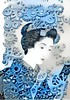 Processed Make Up (sjrankin) Tags: 25march2017 edited processed filtered goyo art ukiyoe print illustration gears