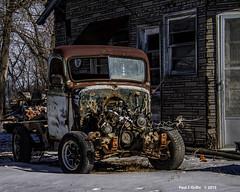 Battered    ...... HTT (jackalope22) Tags: htt ttruck junk engine hoodless