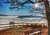 Eingenebeltes Moseltal (oblakkurt) Tags: nebelstimmung mosel sonnenstimmung aussichten bänke