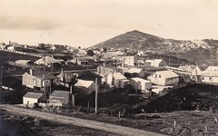 Waratah and Mount Bischoff, Tasmania - early 1900s (Aussie~mobs) Tags: waratah mountbischoff tasmania australia vintage mountainoftin township houses homes