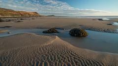 Sand Lines (jillyspoon) Tags: monreith beach scotland southwestscotland sea seaside evening beautiful emptybeach canon70d canon coast canoneos dumfriesandgalloway eos galloway irishsea landscape sandscape ripples sand rocks rock pools rockpooles rockpools machars