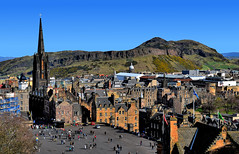 Arthur's Seat (manuelecant) Tags: arthur seat edinburgh scotland uk europe city town hill nature church cathedral sight panorama view tower nikon d5500 hdr house building roof travel tourism