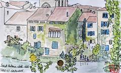 Le Tour de France virtuel - 82 - Tarn-et-Garonne (chando*) Tags: aquarelle watercolor sketch croquis france