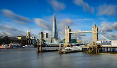 Cloudy Start (Aleem Yousaf) Tags: cloudscape sky clouds london ilovelondon londonist tower bridge shard architecture morning light long exposure lee filters neutral desnsity photo walk nikon d800 1835mm ultra wide angle river thames royal navy greater authority city hall cityscape skyline