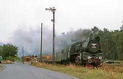 PKP OL49 - 69 road crossing 32 by peter.velthoen - August 1991 Between Poznan & Zielena Gora west of Wolsztyn this line is closed now