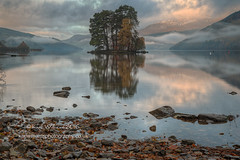 Kenmore Daybreak (Shuggie!!) Tags: clouds dawn hdr hills islands kenmore landscape lochtay mistandfog morninglight mountains perthshire reflections rocks scotland shoreline trees water zenfolio karl williams karlwilliams