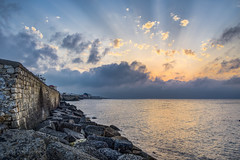 Heraklion Coastline (HDR) (panos_adgr) Tags: heraklion crete colours sunset sky sea hdr nikon d7200 wall rocks koules greece blue water stones sunrays contrast sharp island handheld landscape