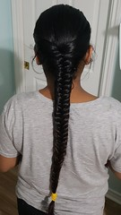 Nearing the end of a long journey and ready to be a proud mommy... (hairchick82) Tags: fishtailbraid fishtail braid plait khajoorichoti khajoori choti