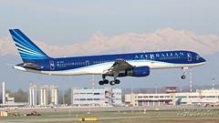 4K-AZ12 AZAL Azerbaijan Airlines Boeing 757-22L (Nick Air Aviation Photography) Tags: img1911 4kaz12azalazerbaijanairlinesboeing75722l milanmxpairport aviationphotography nickairphotography landing travel boeing757 canoneos760d planespotting sunnyday 904