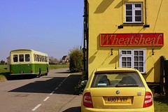 A lot of Yellow (Chris Baines) Tags: crossville bristol re ufm 53f wheatsheaf pub tattingstone suffolk built 1968