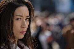 """If Looks Could Kill"" Shibuya, Tokyo, Japan (March 2017) (Kommie) Tags: japanese girl lady woman shibuya tokyo japan street candid photography bokeh fujifilm xpro2 fujinon 90mm f2 r wr angry facial expression"
