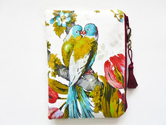 Budgie Print Wipeclean Bag. (Jigglemawiggle) Tags: budgies parakeets budgerigar birds waterproofbag womenswallet wipeclean etsy folksy jigglemawiggle handmade scotland