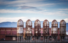 Tanked Up (MontanaRoots (aka Craig)) Tags: pulp paper digester tanks factory canon washington bellingham dystopia