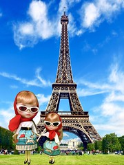 Eiffel Tower Day! The Champagne sisters visit their favourite Parisienne landmark to celebrate the completion of the Eiffel Tower on March 31, 1889.  Took 2 years, 2 months and 5 days to complete for the International Exhibition of Paris.