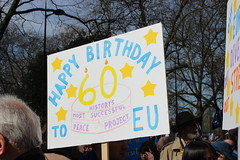 Happy 60 Birthday - EU History's most successful peace project. (maggie jones.) Tags: london