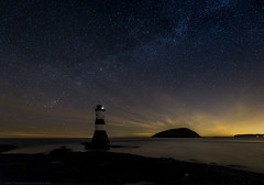 Adventure time (MarkWaidson) Tags: stars penmon lighthouse milkyway sea night anglesey wales