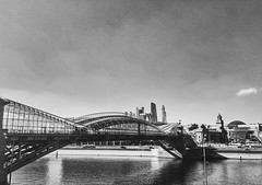 Moscow river and bridge and City (places to see) Tags: architecture 6s iphone monochrome town city bridge blackandwhite cityscape river russia moscow река мост москва россия архитектура строительство