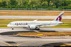"""SIN.2015 # QR - B787 A6-BCD """"Dreamliner"""" awp (CHR / AeroWorldpictures Team) Tags: qatar airways boeing 7878 dreamliner cn 38322 99 engines genx1b reg a7bcd history aircraft first flight construction site everett pae wa usa delivered qatarairways qr qtr ferried paelbg display airshow paris cabin outfitting c22y232 delivery b787 b788 2013 lbg vcv doh sin kpae wsss planes aircrafts planespotting asia airport b7878 taxiways twy rwy runway nikon d300s zoomlenses nikkor 70300vr raw lightroom lr5 2015 awp"""