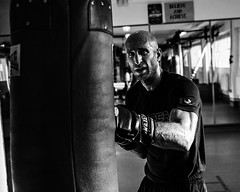 Portrait of a Boxer (C.Preston Roberts) Tags: portrait boxer blackandwhite fitness health training cardio exercise man fighter closeup workout gym diet nutrition ripped healthy sport heavybag monochrome action movement