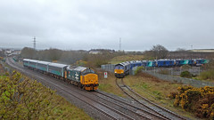 The Trains From Spain Land Mainly In The Rain (Richie B.) Tags: derwent junction workington cumbria vossloh stadler rail drs direct services english electric british class 37 general motors emd 66 37402 66421 68 88 2c41 0z15