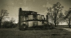 Tragedy (Jon Scherff) Tags: ruins abandoned nikond810 nikon1424mmf28afs wideangle abandonedhouse neglect forgotten sepia monochrome oncewashome