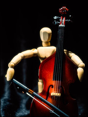 2017-101 Manny the Musician (Darren Wilkin) Tags: manny mannequin music doublebass stilllife macro oneaday 365