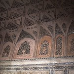 India (Agra-Agra Fort) Ceiling decorations of Musamman Burj Chamber thumbnail