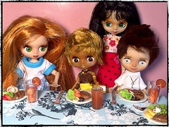 Toy-in-the-Frame Thursday & April#9 Brunch or Lunch: Petites' Fancy-ish Lunch