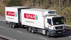 MAN - SPAR Supermarket (scotrailm 63A) Tags: lorries trucks spar supermarkets