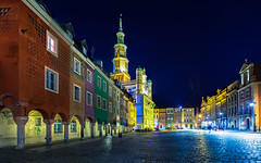 Stargazing... (Sakuto) Tags: city oldsquare poznan buildings tower night color highres lightpollution