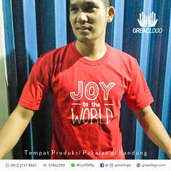 11.Kaos Joy to the World (1) (greaclogo) Tags: konveksi kaos jaket baju seragam tshirt polo poloshirt topi bikinkaos kemeja