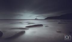 A Tad Dull (ianbrodie1) Tags: blackandwhite coastline coast stmarys lighthouse rocks longexposure leefilters cloud cloudsstormssunsetssunrises water sea seascape ocean cliffs north east